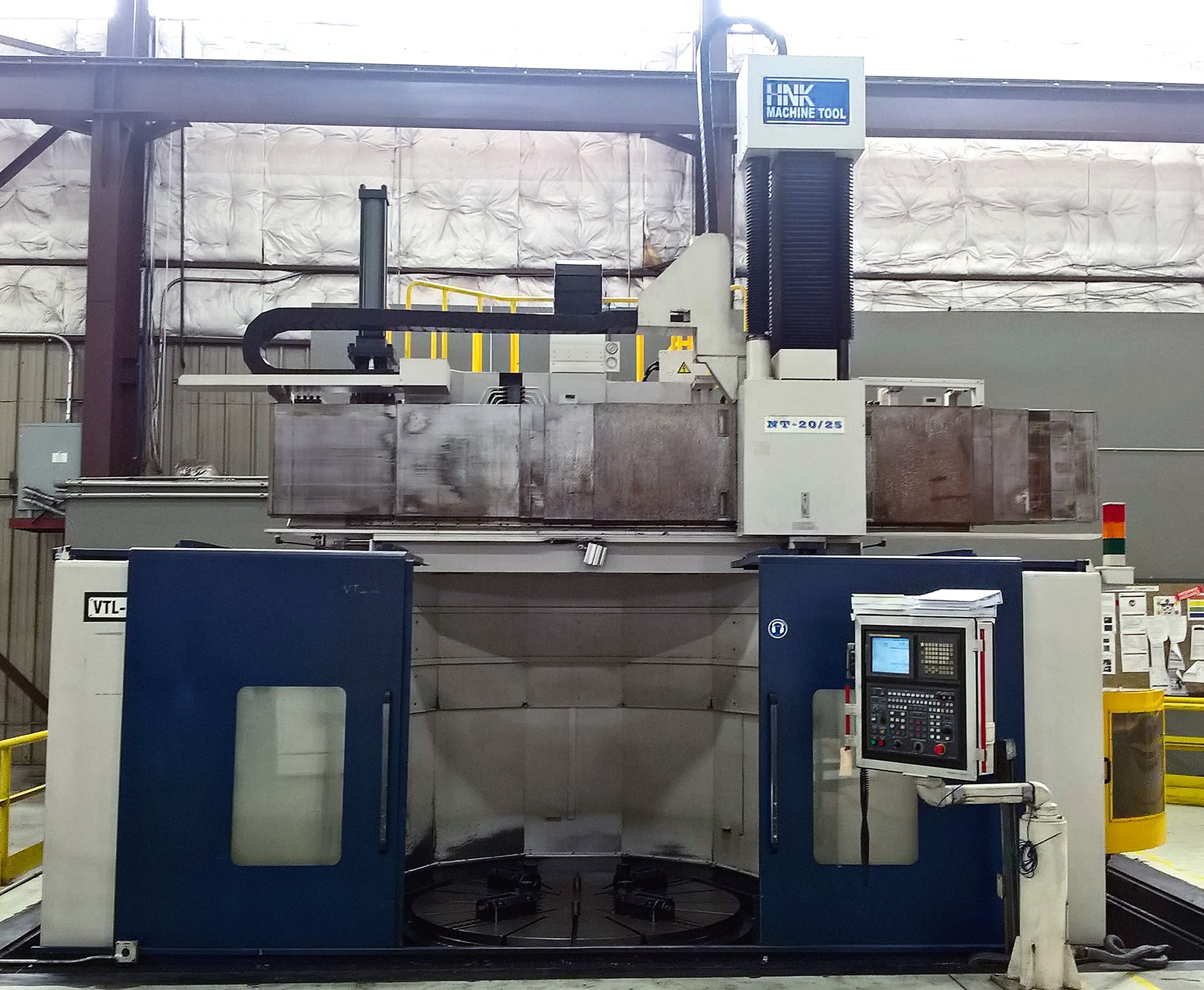 "USED, 78""/98"" HNK NT-20/25 CNC VERTICAL BORING MILL"