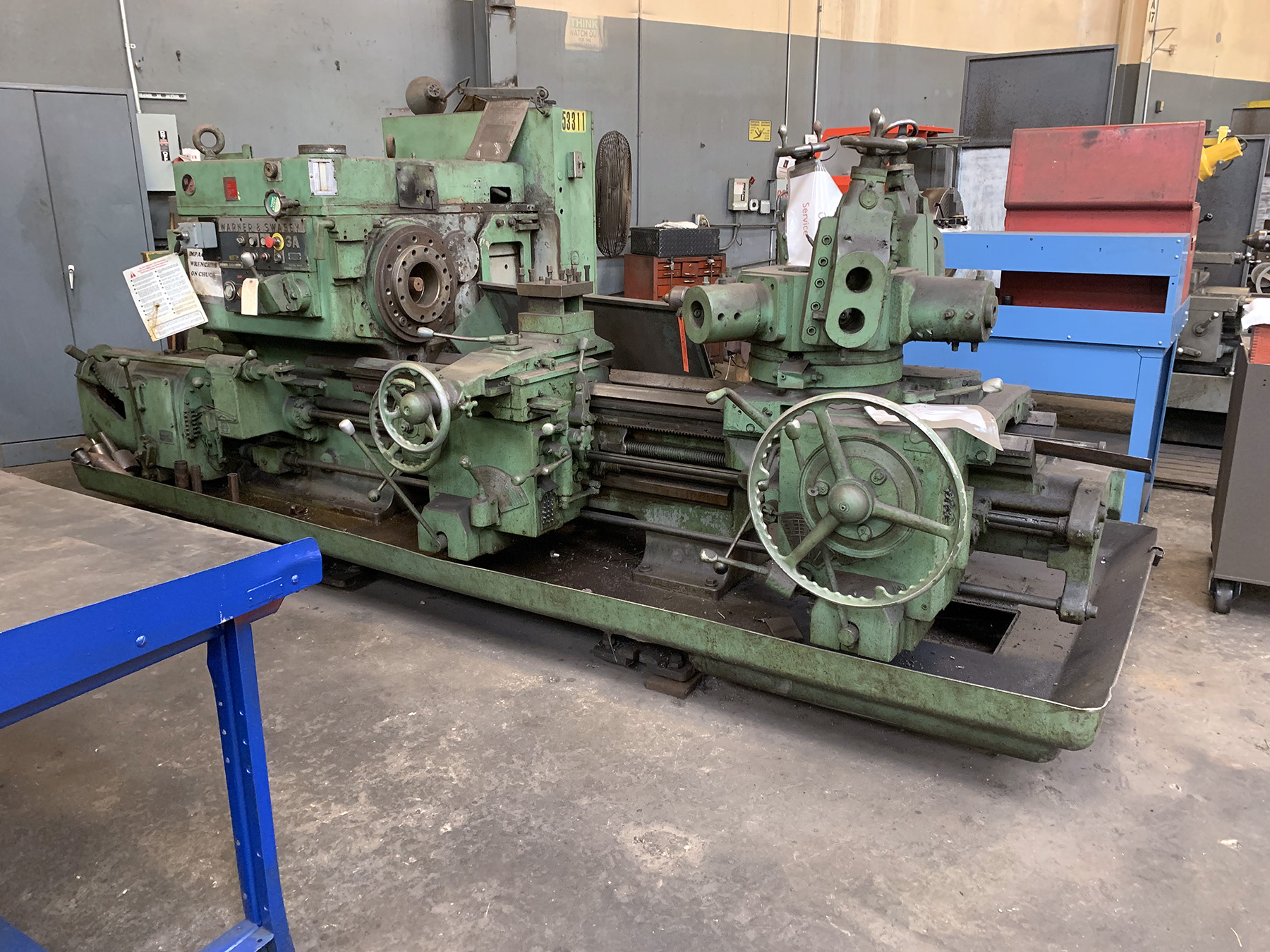"USED, 24"" WARNER & SWASEY MODEL 3A TURRET LATHE"