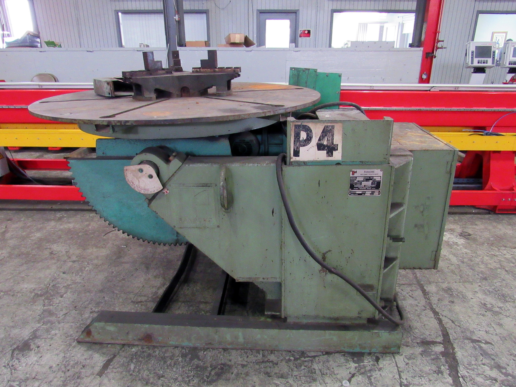 USED, 6000 LB. RANSOME MODEL 60P-A ADJUSTABLE HEIGHT WELDING POSITIONER
