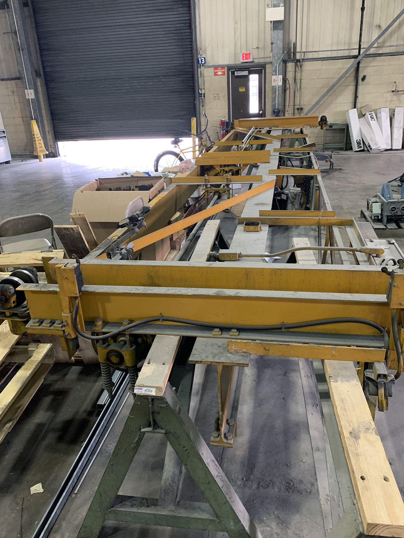 USED, 2 TON GAFFEY OVERHEAD BRIDGE CRANE