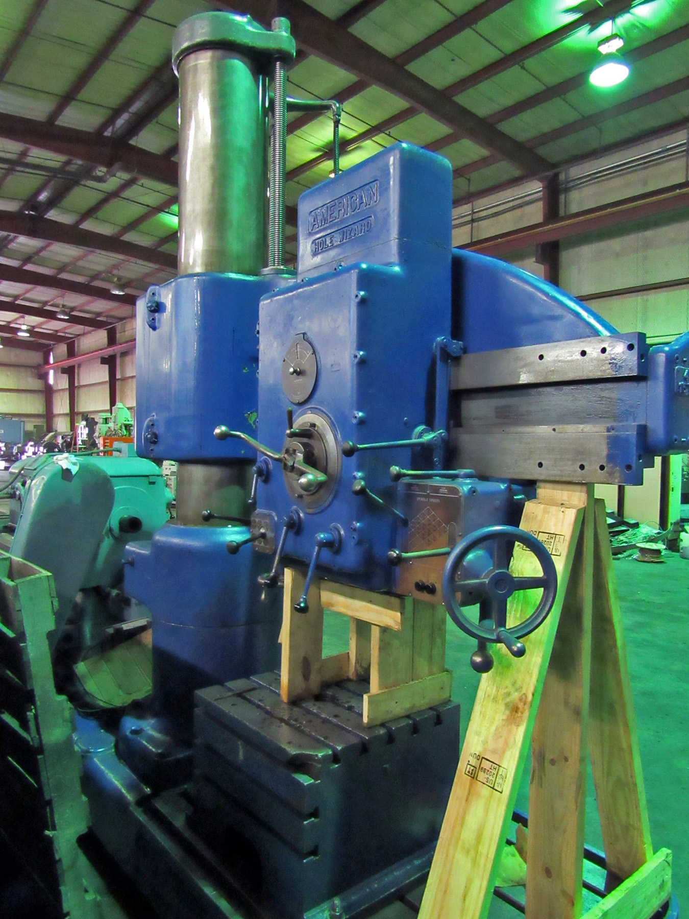 "USED, 4' 15"" AMERICAN HOLE WIZARD RADIAL ARM DRILL"