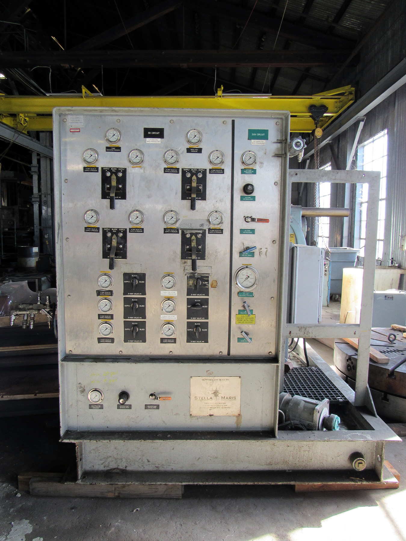 USED, 5K/30K STELLA MARIS HYDRAULIC POWER UNIT FOR PRESSURE TESTING