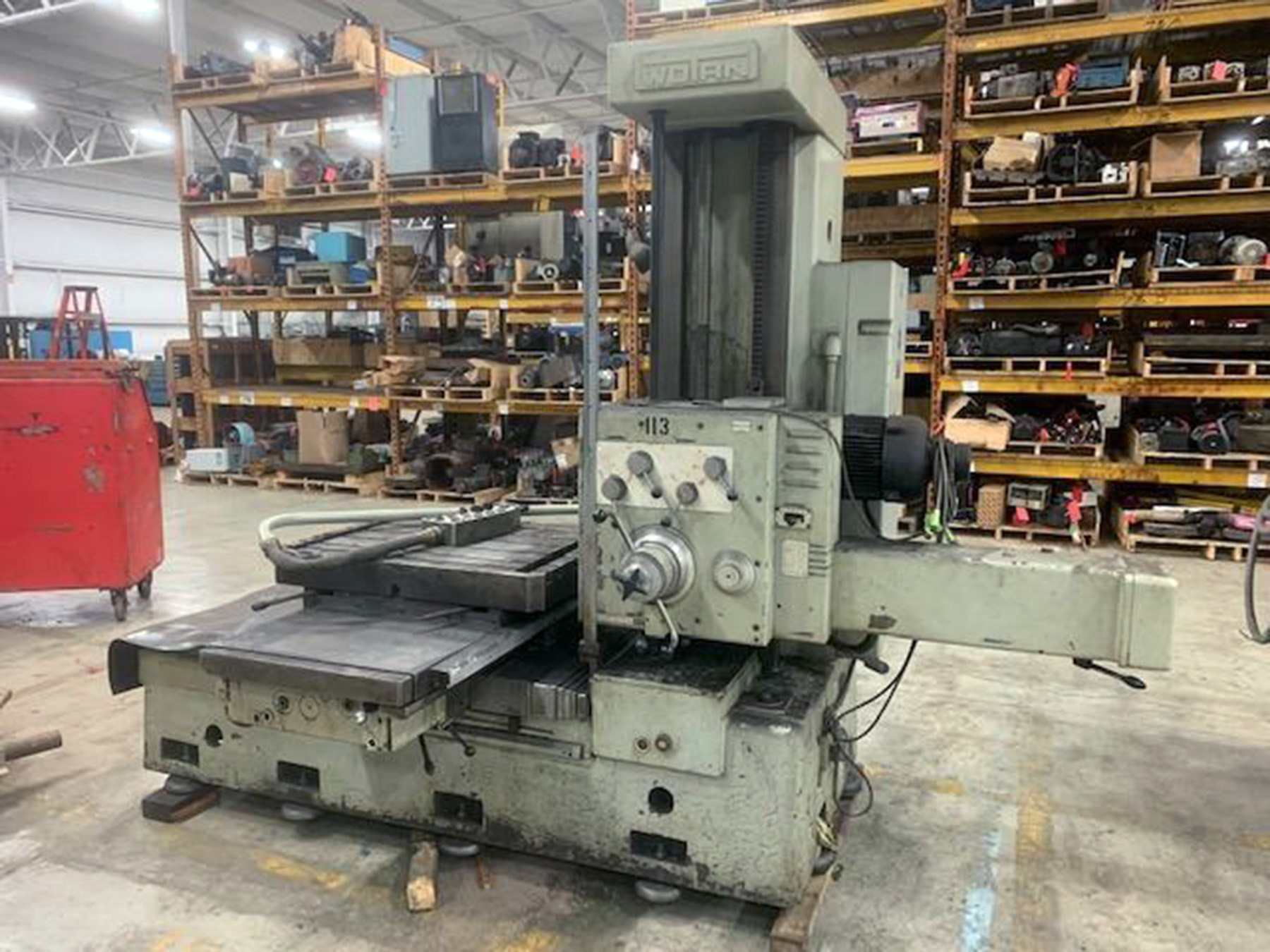 "USED, 3"" WOTAN MODEL B75 TABLE TYPE HORIZONTAL BORING MILL"