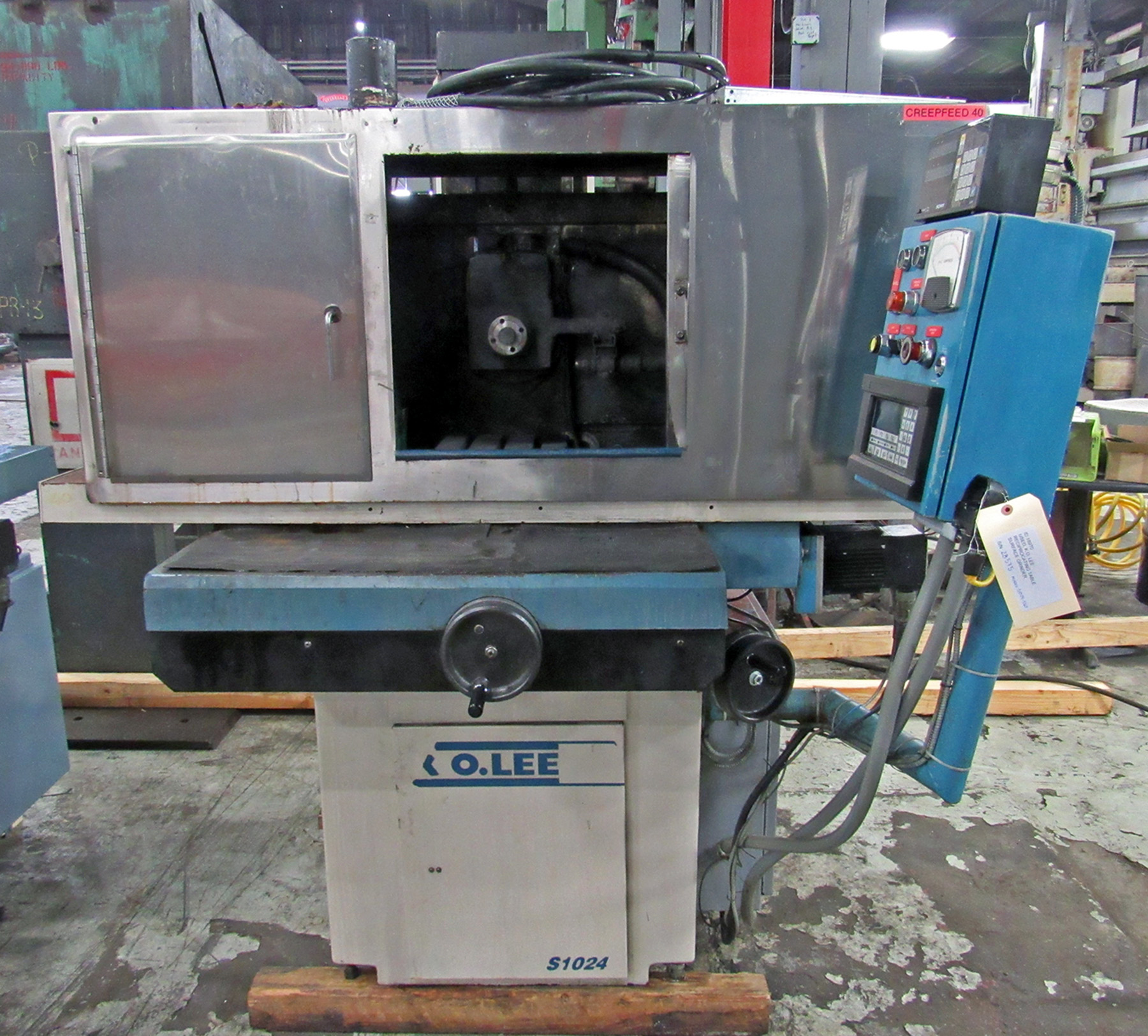 USED, K.O. LEE MODEL S1024-550 RECIPROCATING SURFACE GRINDER WITH POWER DOWNFEED AND CRUSH FEED CAPABILITIES