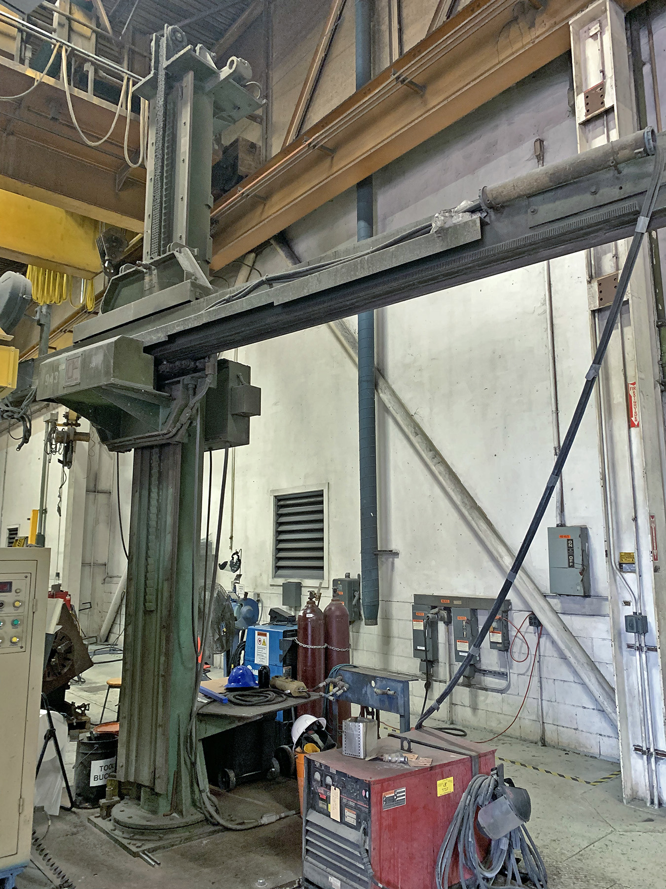 USED, 12' X 12' RANSOME MODEL 1212 WELDING MANIPULATOR ON FIXED BASE