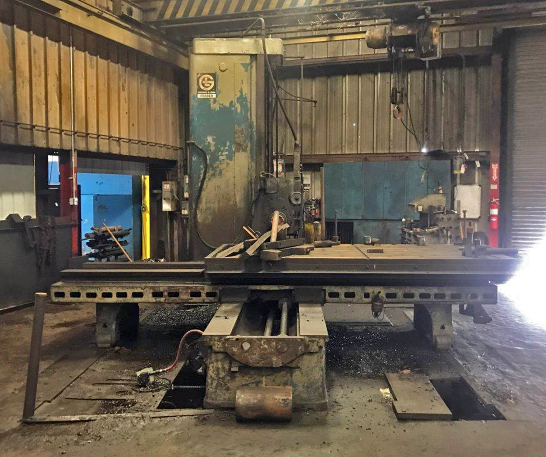 """USED, 5"""" GIDDINGS & LEWIS FRASER MODEL 70A-D5-T TABLE TYPE HORIZONTAL BORING MILL"""