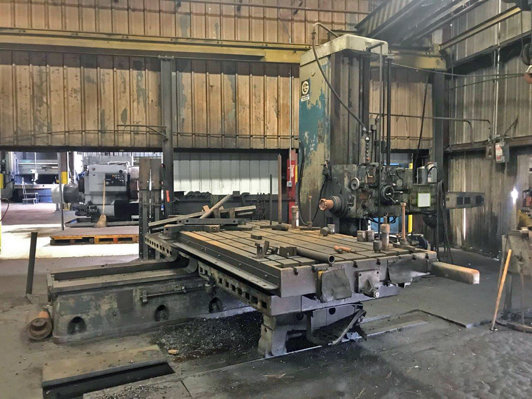 "USED, 5"" GIDDINGS & LEWIS FRASER MODEL 70A-D5-T TABLE TYPE HORIZONTAL BORING MILL"