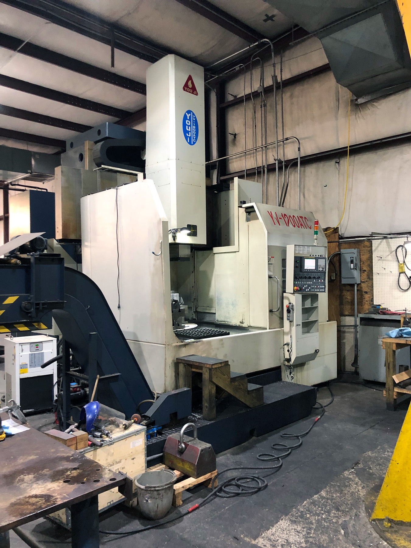 USED, YOU JI MODEL YV-1200ATC CNC VERTICAL MACHINING CENTER