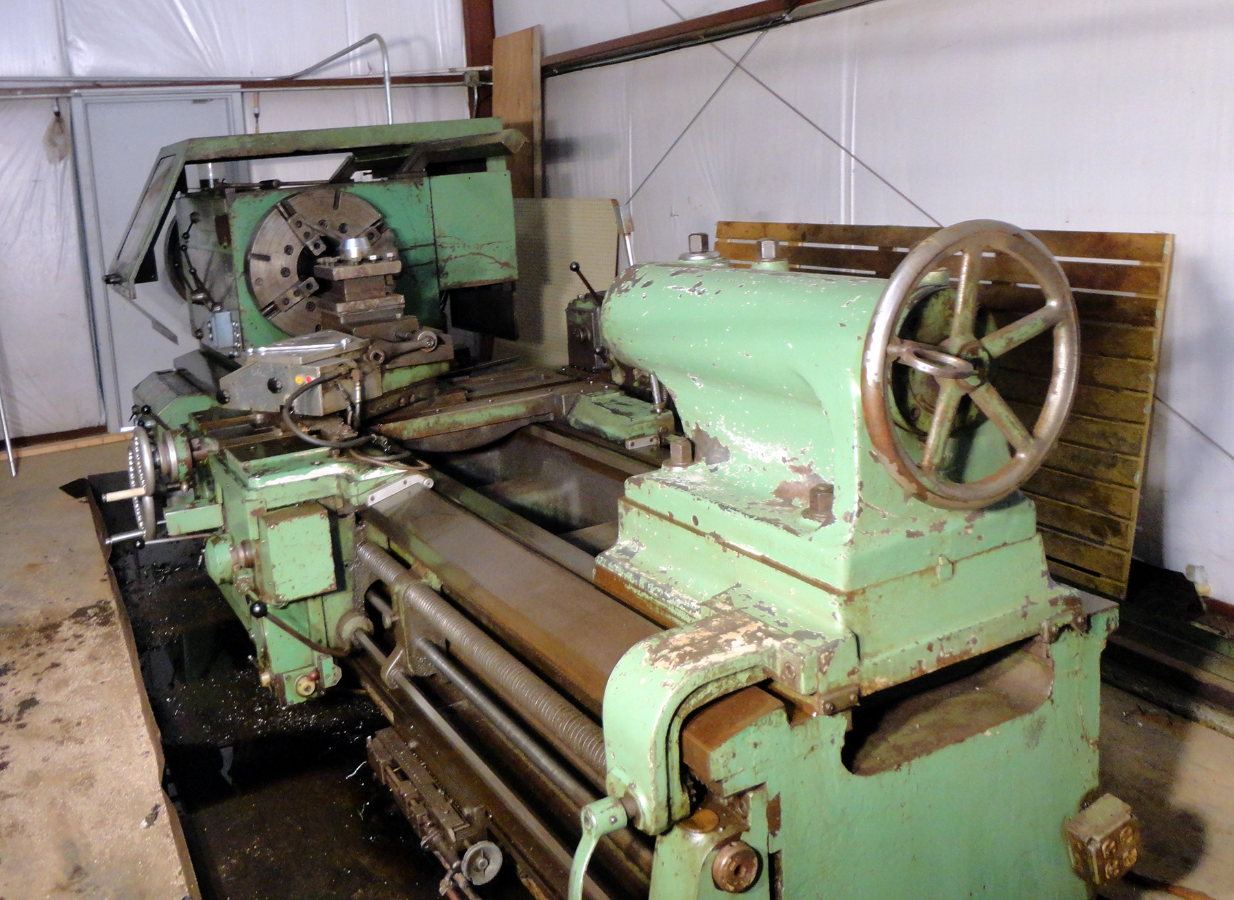 "USED, 36"" X 96"" DEMOOR HOLLOW SPINDLE TRACER LATHE WITH 9-1/2"" SPINDLE BORE"