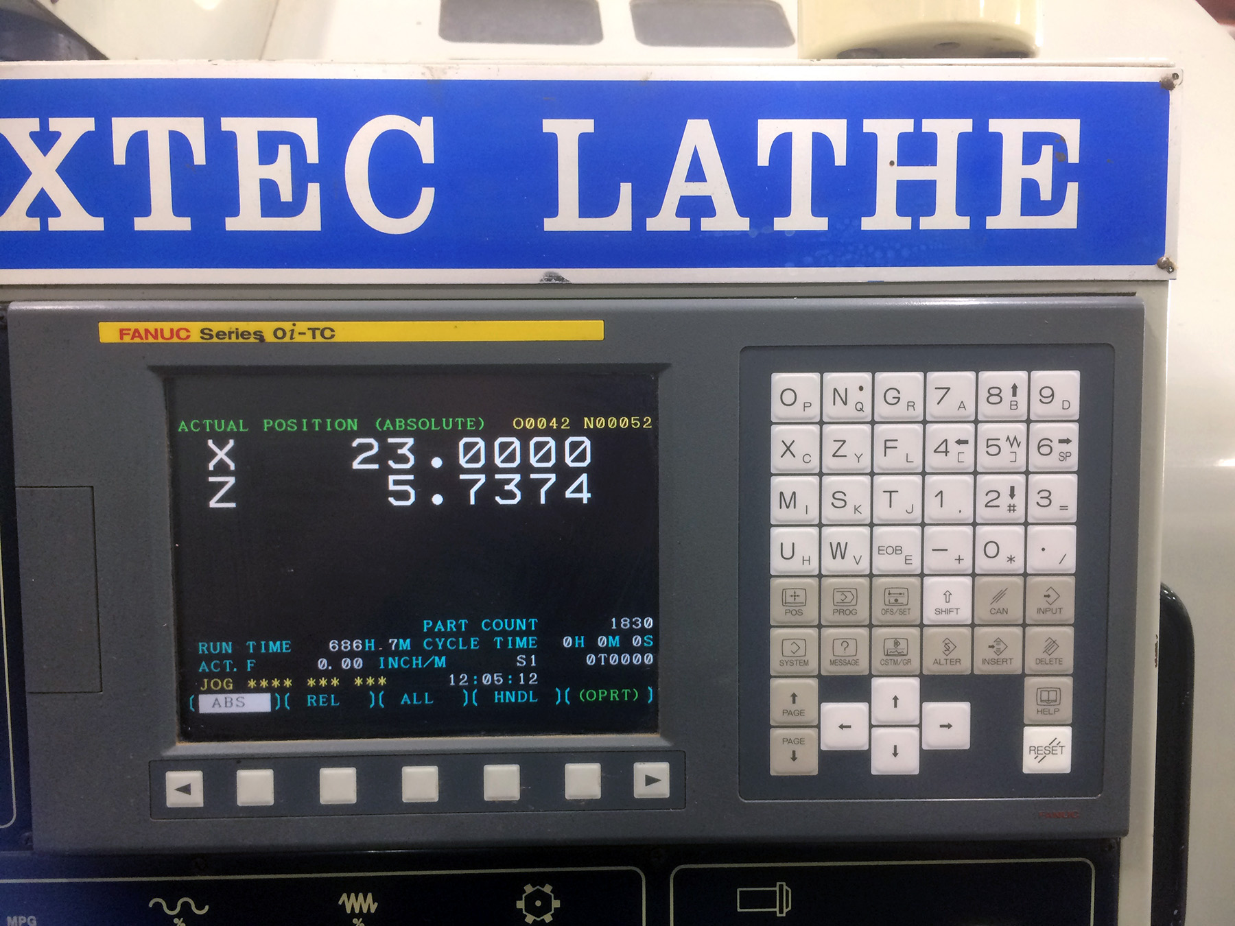 """USED, 42"""" X 60"""" SUN FIRM MODEL MAXTEC CST 4260 CNC LATHE WITH 10"""" SPINDLE BORE"""