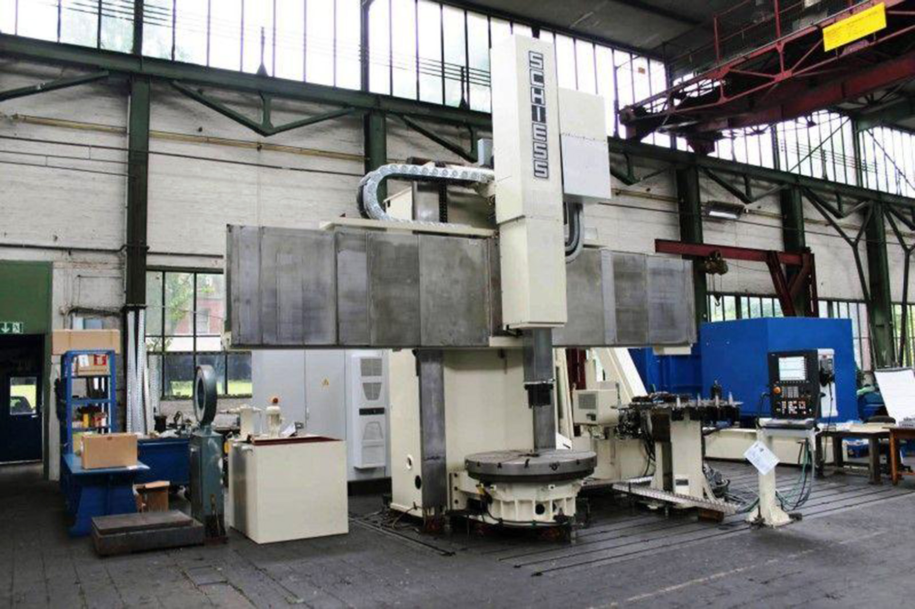 """USED, 49"""" SCHIESS-FRORIEP MODEL 16DS125 CNC VERTICAL BORING MILL"""