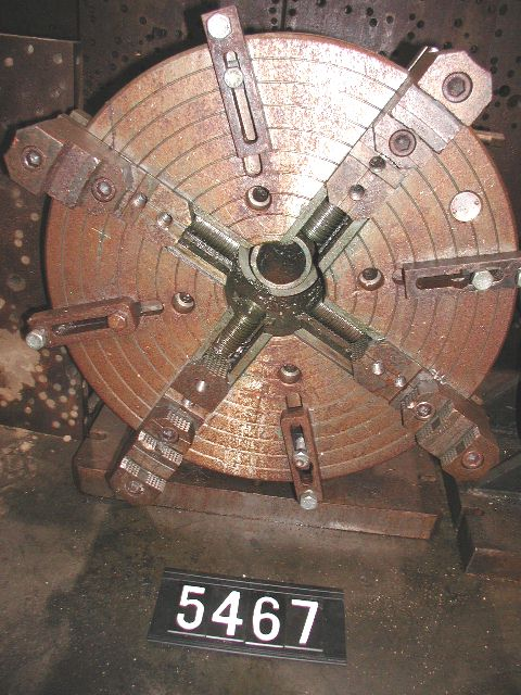 "USED, 24"" MANUAL DIVIDING HEAD WITH 24"" CUSHMAN 4-JAW CHUCK"