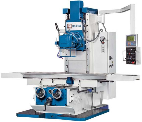 KNUTH MODEL KB 2100 BED TYPE MILLING MACHINE