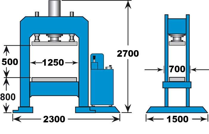 KNUTH MODEL KP GANTRY-TYPE HYDRAULIC PRESS