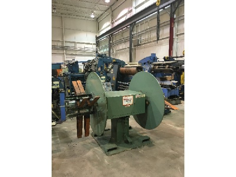 Coe Press Double End Pull Off Uncoiler 6,000 Lbs. x 18 Wide
