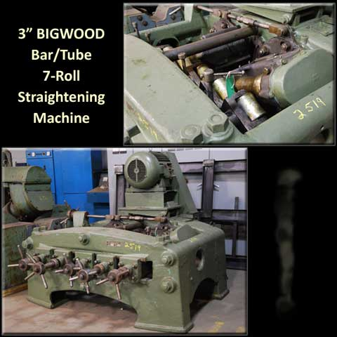 "3"", BIGWOOD, No. 1B, 1970, 7-ROLL TUBE & BAR STRAIGHTENER (11214)"