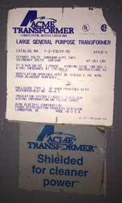 37.5 KVA LARGE GENERAL PURPOSE ACME TRANSFORMER (13011)