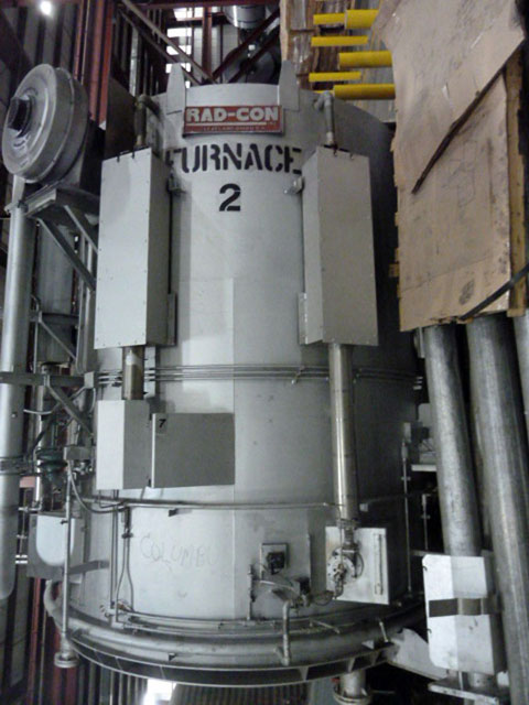 """76""""(1829mm) DIA X 126""""(3200mm) H RAD -CON BELL ANNEALING FURNACES (13440)"""