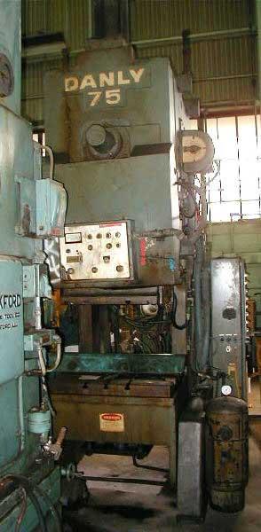 75 Ton DANLY MODEL 75 OBI PRESS W/AIR CLUTCH (13491)