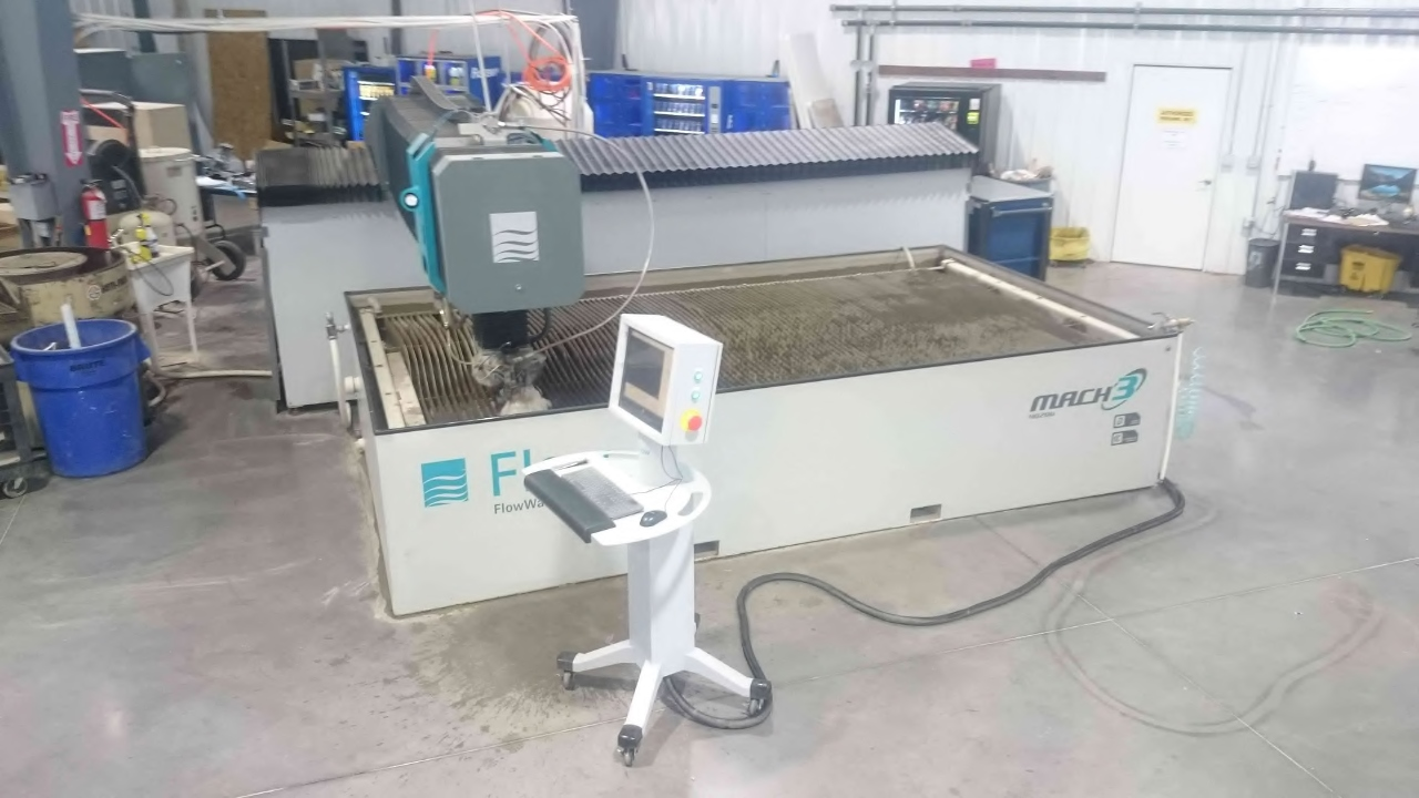 FLOWFlow Mach3 4020, New 9/2015. 87K PSI, 13'x6.5', Dynamic Cutting, Paser 4 Cutting Head, Media Blaster