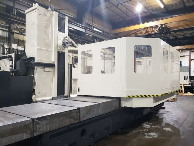"Toshiba BP-130.R22 Horizontal Boring Mill, Tosnuc 888 Ctrl, 160""x100""x60"", 27"" W, 5"" Spindle Diameter, 71""x86"" Table, 60 Tool, 150 PSI Coolant, 2500 RPM, 30/40HP, Chip Conveyor"