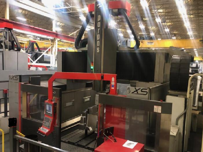 "Parpas XS63 5-Axis Dual Head High Speed Gantry Milling Machine, 2011; 236"" x 118"" x 59"", Heidenhein iTNC 530 Ctrl, Siemens Motors/Drives, 50 Taper, 5K & 20K RPM Heads, Probing, More"