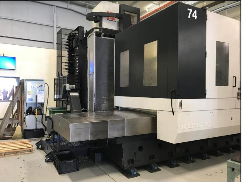 "Kuraki AKB-13 HBM, New 2013; 118"" x 78.7"" x 63"", 27.6"" W, 5.12"" Spindle Bore, 3000 RPM, BBT50 Taper, 60 ATC, Fanuc 0i-MD Ctrl, Coolant, Chip Blaster"