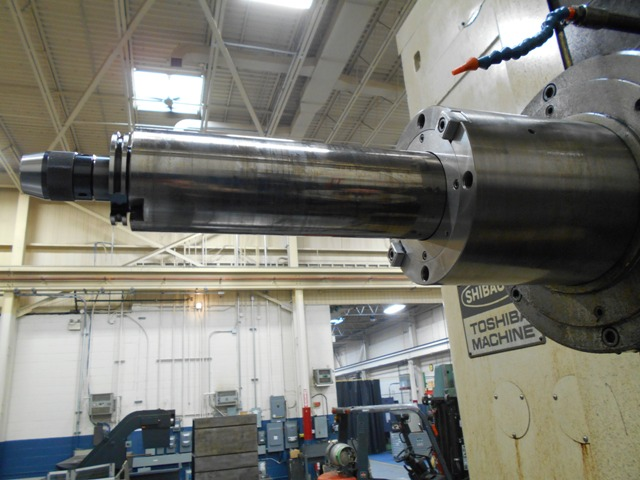"""ToshibaToshiba BP-110 P20, 4.33"""" Spindle, 100""""x65""""x45"""" Travels, CT50, 3000 RPM, 80""""x55"""" Table, Tosnuc 888 Ctrl, Helical Interpolation, Quill Extension"""