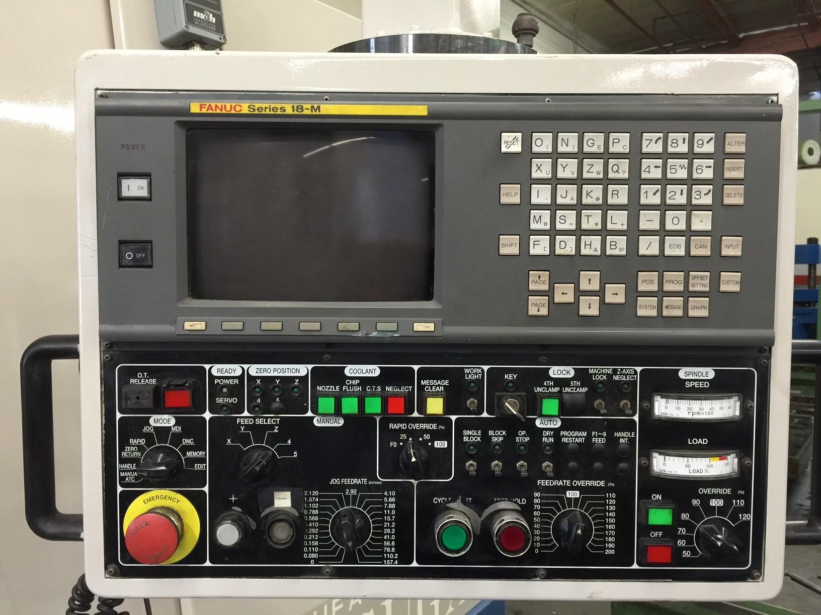"KASUGAKasuga Quantum Q-1250V, 50""x25""x25.6"", 6K RPM, 25HP, CT50, 40ATC, Fanuc 18M Ctrl, Chip Conveyor, Tsudakoma 4th Axis, Tailstock, Rigid Tapping"