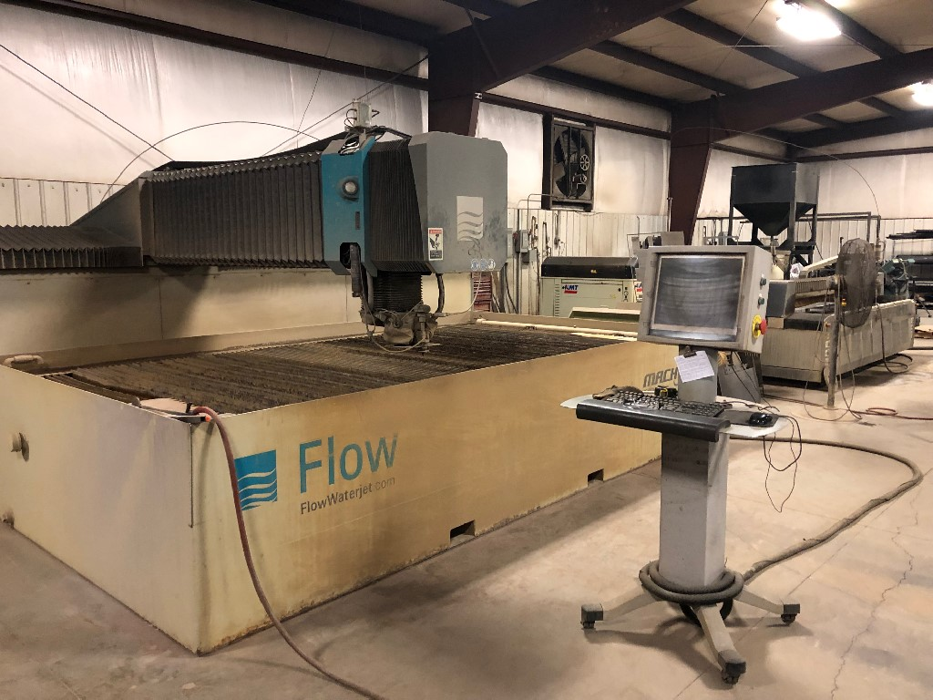 "Flow Mach 3, 78""x157""x7"", 60HP, 60K PSI, Paser III Dynamic Cutting, Chiller, Hyperpressure Technology"