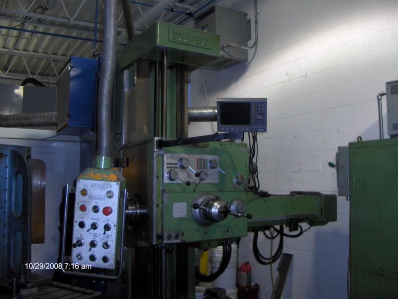 "WOTAN4"", 57x40x32, 50 TAPER, 39.5 TABLE, 06 4AXIS READOUT, LOTS OF TOOLING"