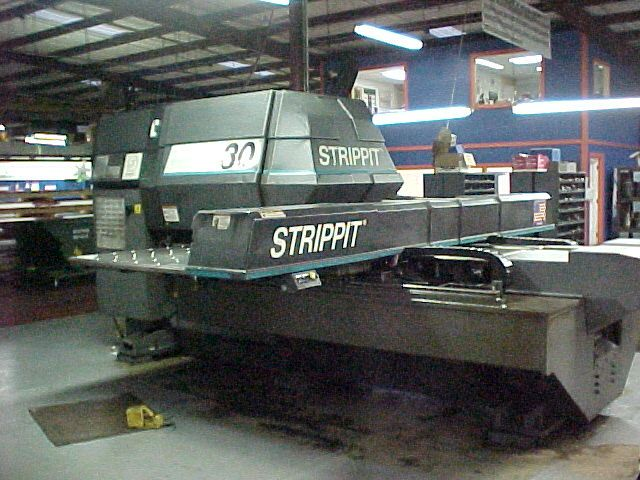 "STRIPPIT33 TONS, 33 STNS. ""THIN"", 3 A.I. 53"" X 82"", FANUC 0P"