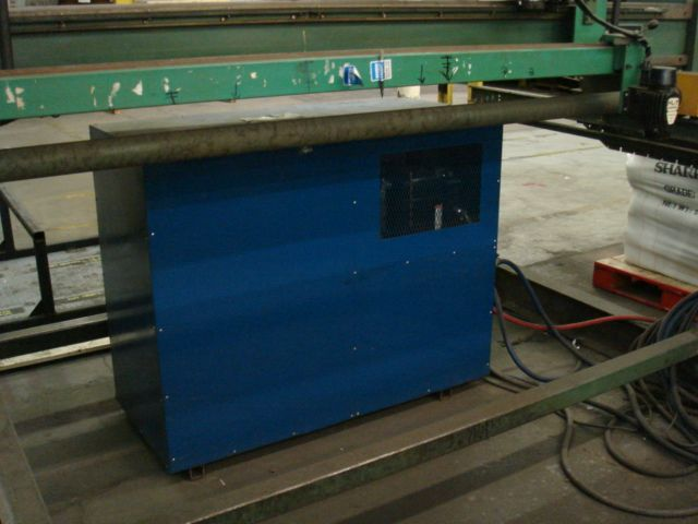 8' X 20', (3) 400 AMP THERMAL ARC 350 POWER SUPPLIES, 1 TORCH, BURNY 3 CNC
