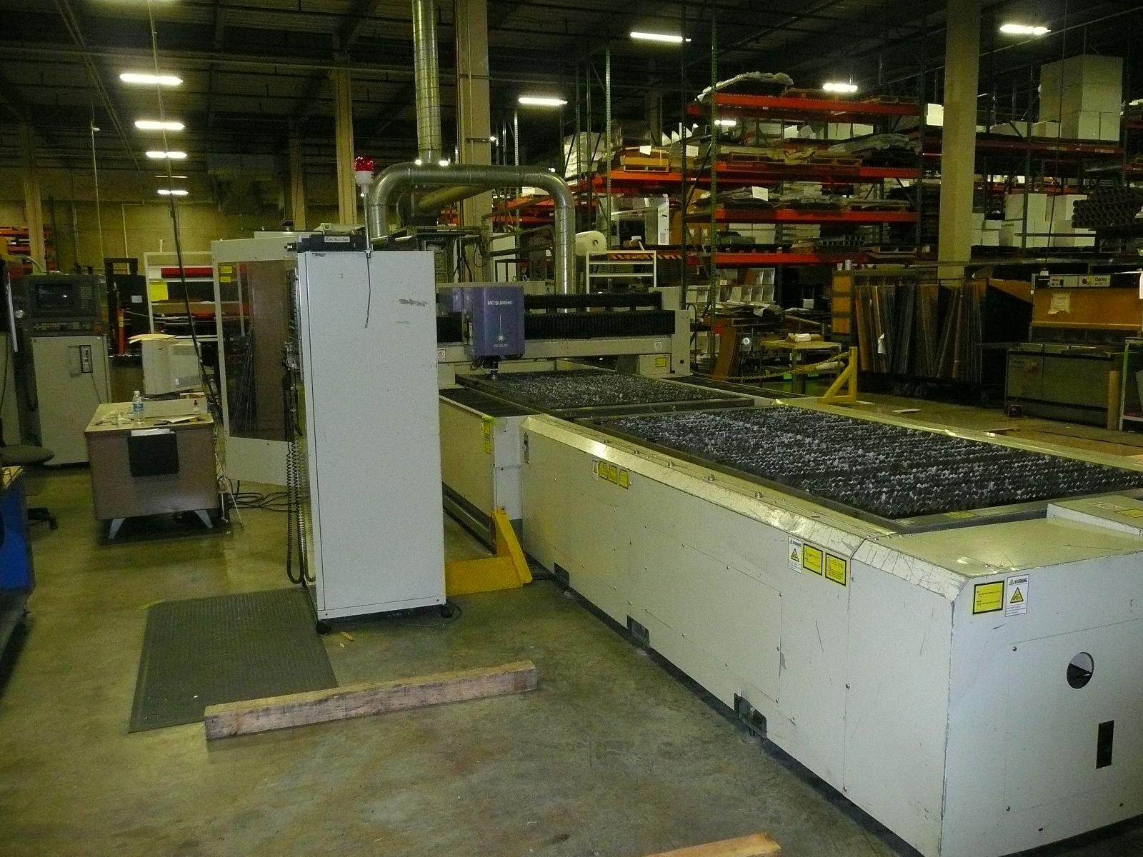 2000 WATT, 4' X 8' DUAL PALLET, LC10BV CONTROLS, SHEET LIFTER, ACCUCHILLER, HI PRESSURE GAS ASSIST