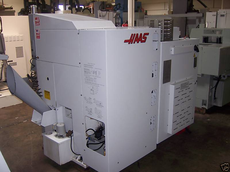 "HAAS32 BIT CTRL, 6"" CHK, 16"" SWING, 2.3"" SPINDLE HOLE, TAILSTOCK, RIGID TAP, CHIP AUGUR"