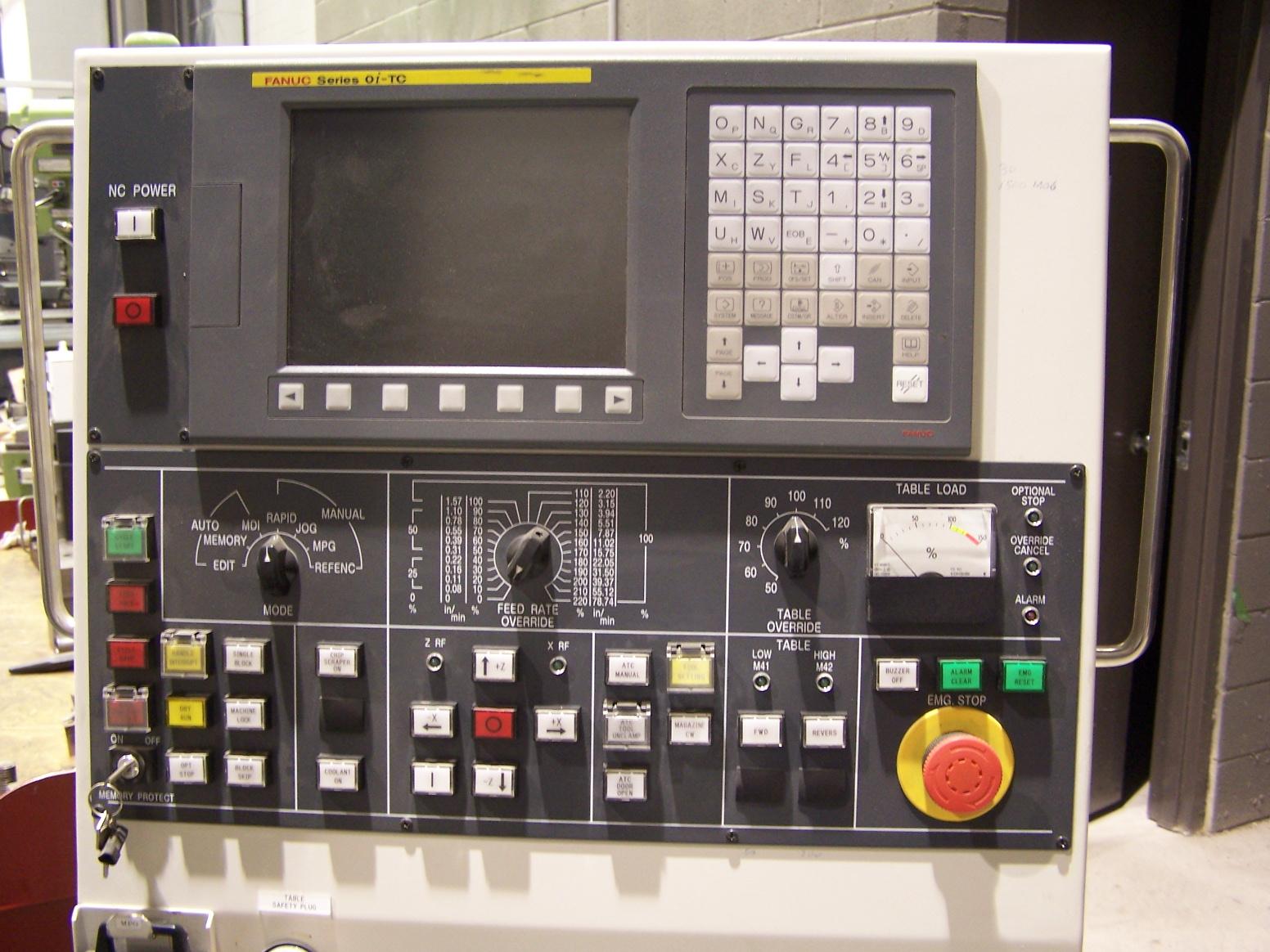 "Toshiba90"" SWING, FANUC Oi-TC CNC Control, Elevating Cross rail, Chip Conveyor, High Guards, Under 200 Hours!"