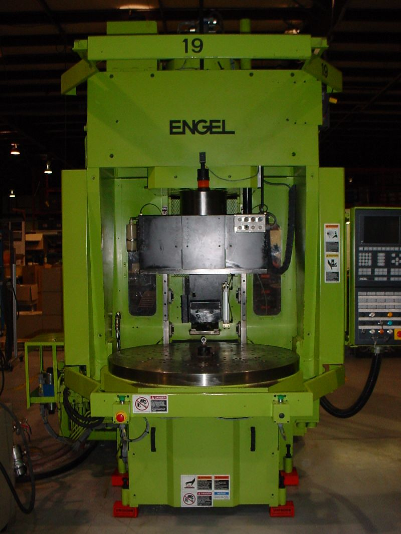 200 TON 9.9 OZ , VERTICAL CLAMP,HORIZ. INJ,ROTARY TABLE, EC-100  (3 AVAILABLE)