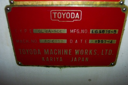 "TOYODA12"" x 18""; Servo Headstock; Power Tailstock"