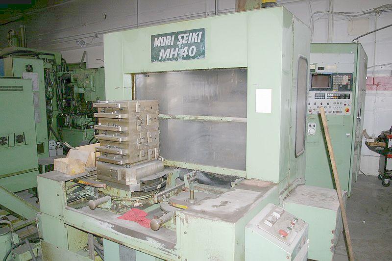 "MORI SEIKIFANUC 11M CNC CONTROL, 16"" x 16"" PALLETS, CAT 40, 6K RPM,"