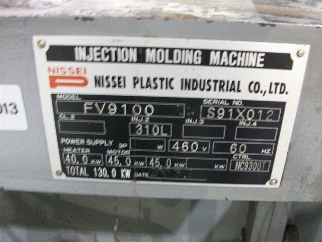 NISSEI720 TON 132 OZ , NISSEI, NC9300T CONTROL ** sold to KD $87K