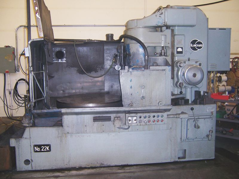 "42"" Wet Base Rotary Surface Grinder, 50 HP, 6 - 33 RPM, 48"" max swng (inside water guards), w/ Wet Base Machine"
