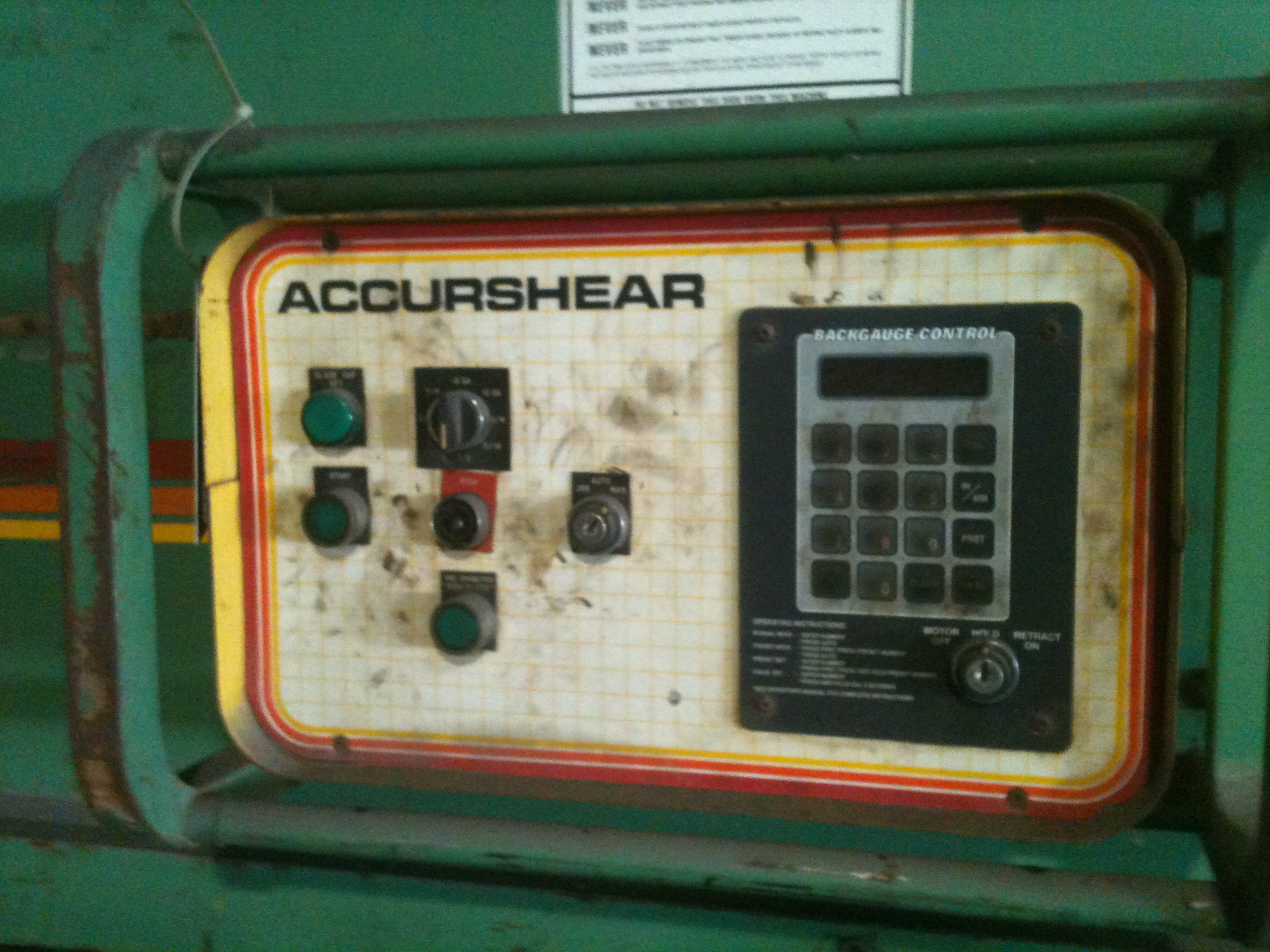 "12' x 3/4"" ACCURSHEAR HYDRAULIC Shears"