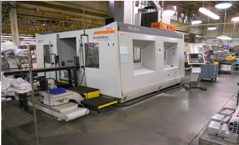 "2007 Handtmann PBZ DL 5 axis mill, x-78"", y-43"", z-27"", c +/- 200, A +/- 120. Speed XYZ - 2150in/min, C - 180*/sec, 36 tool holder, 1 saw blade"