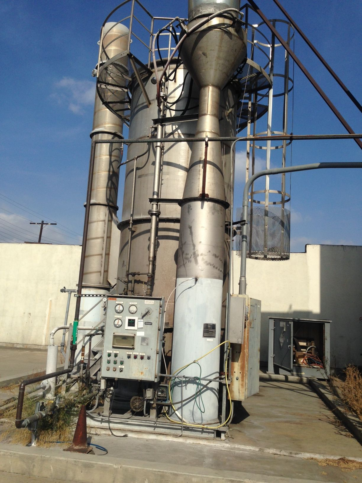 Anderson WAF-121 Venturi Scrubber, Fumes Brothers System, Stainless Steel.