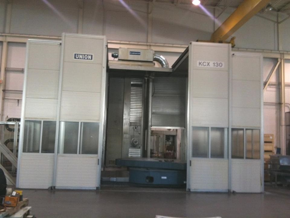"5"" UNION KCX 130 CNC TABLE TYPE HORIZONTAL BORING MILL, New: 2002"