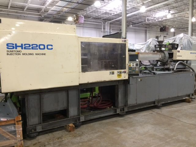 SUMITOMO SH220C, T3TA0396024 220 TON INJECTION MOLDING MACHINE