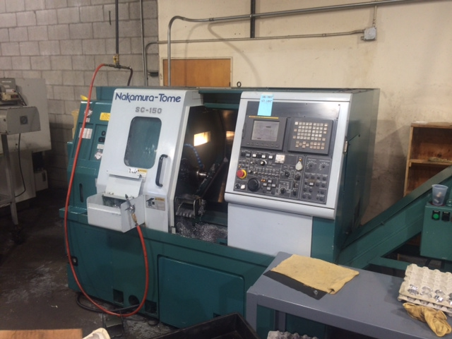 Nakamura Tome SC-150 CNC Turning Center, Fanuc 21i-T Control, Parts Catcher, Live Tooling