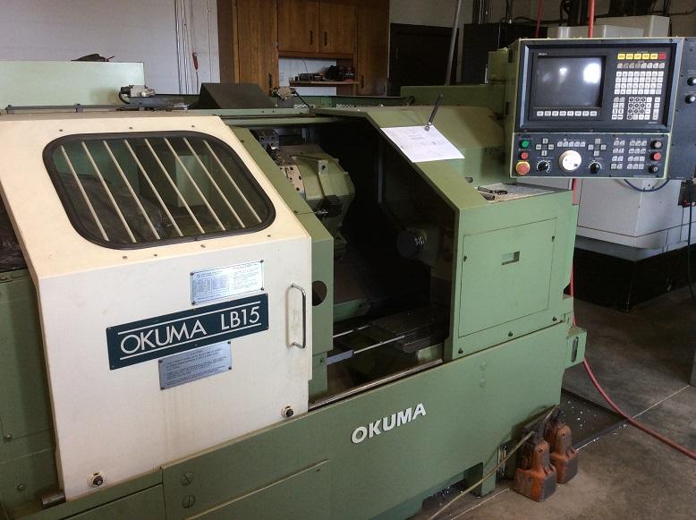 """Okuma LB-15 CNC Lathe, Collet/10"""" Chuck, tons of tooling"""