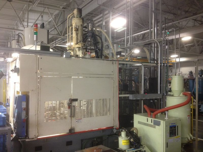 JSW MODEL JT150REII VERTICAL CLAMP AND INJECTION MOLDING MACHINE MFG NEW IN 1998