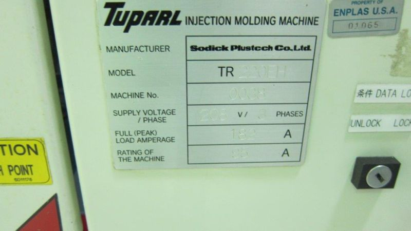 SODICK MODEL TR220EH HYBRID INJECTION MOLDING
